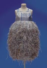 Shredded magazine dress