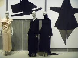 Paper towel wad dress, too-high turtleneck
