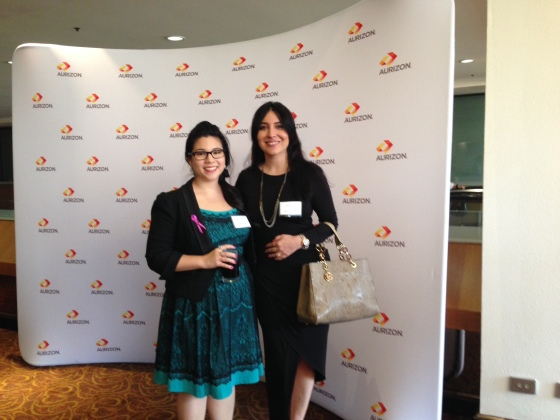 My colleague and I at the IWD Business Lunch the following day