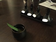 """The same lemongrass tea but actually served to us while we selected the """"scent"""" for the room so that each night an oil burner could be lit for us before bed"""
